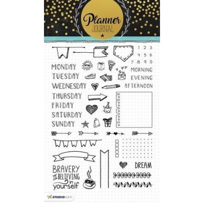 Clear stamp - Stucio Light -  Planner Journal  - STAMPPJ01