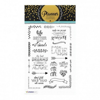 Clear stamp - Stucio Light - Planner Journal - STAMPPJ03
