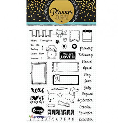 Clear stamp - Studio Light - Planner Journal - STAMPPJ06