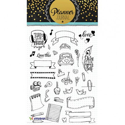 Clear stamp - Stucio Light -  Planner Journal  - STAMPPJ08