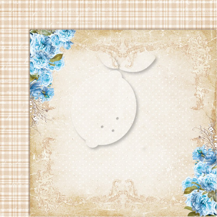 Double sided scrapbooking paper - Sense and sensibility 08