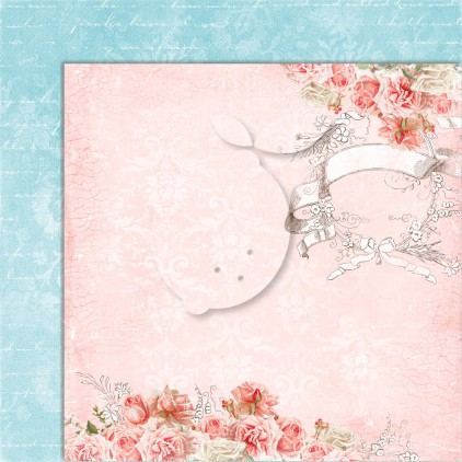 Double sided scrapbooking paper - Sense and sensibility 06