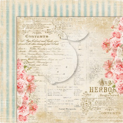 Double sided scrapbooking paper - Sense and sensibility 03