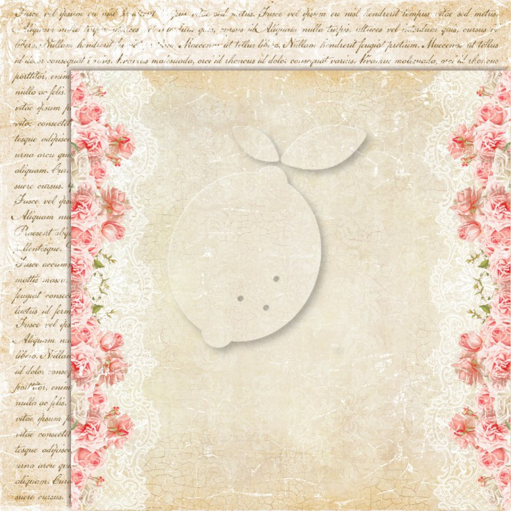 Double sided scrapbooking paper - Sense and sensibility 02