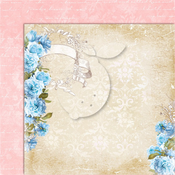 Double sided scrapbooking paper - Sense and sensibility 01