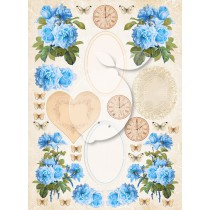 One-sided scrapbooking paper - Vintage Time 039