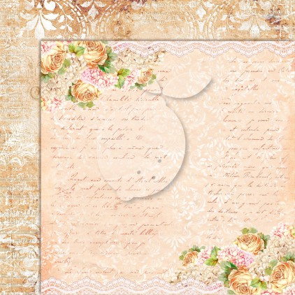 Double sided scrapbooking paper - Grow old with me 02