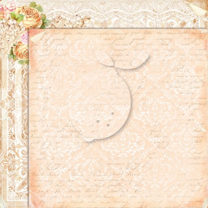 Double sided scrapbooking paper - Grow old with me 03