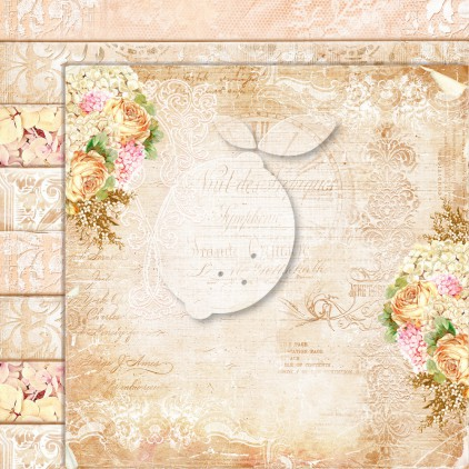 Double sided scrapbooking paper - Grow old with me 08