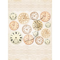 One-sided scrapbooking paper - Vintage Time 035