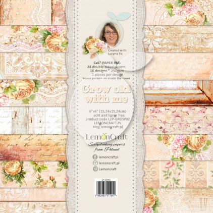 Pad of scrapbooking papers - Grow old with me 6x6