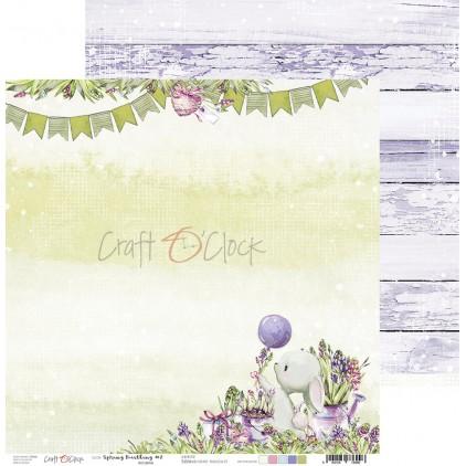 Scrapbooking paper - Craft O Clock -   Spring Bustling  02