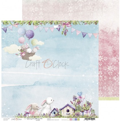 Scrapbooking paper - Craft O Clock - Spring Bustling 04