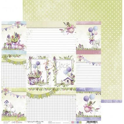 Scrapbooking paper - Craft O Clock - Spring Bustling 06