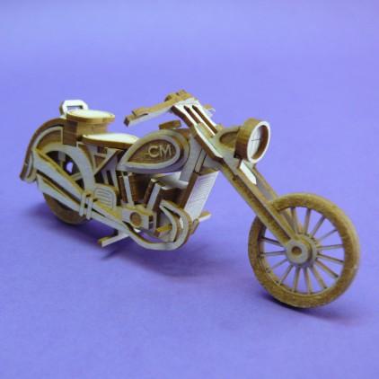 Tekturka 3d - Crafty Moly - Motocykl - Chopper 3D