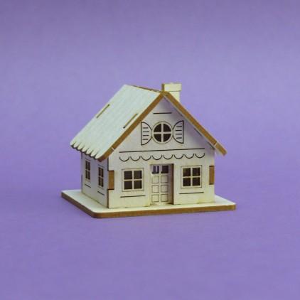 Cardboard element  3d -Crafty Moly - Winter cottage G11