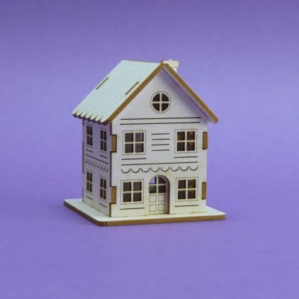 Cardboard element  3d -Crafty Moly - Winter house G11