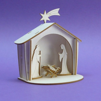 Cardboard element  3d -Crafty Moly - Christmas Stable