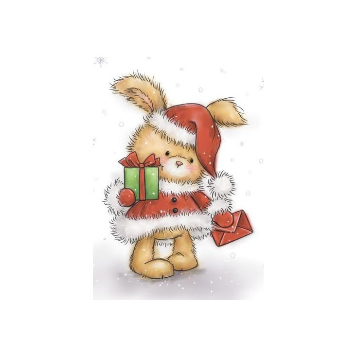Set of clear stamps - Wild Rose Studio - Christmas Bunny CL511