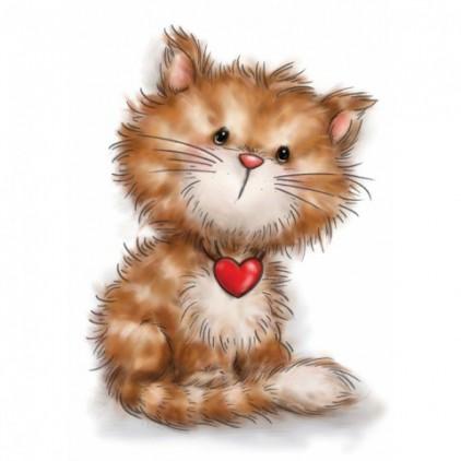 Stemple / pieczątki - Wild Rose Studio - Cat with Heart CL505