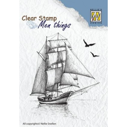 Set of clear stamps - Nellies's Choice - Sailingboat - CSMT0087
