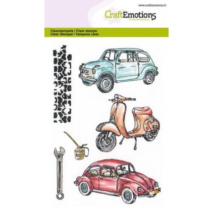 Set of clear stamps - Craft Emotions - Classic cars 2