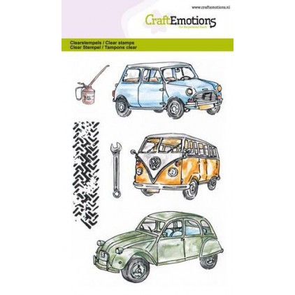 Set of clear stamps - Craft Emotions - Classic cars 1