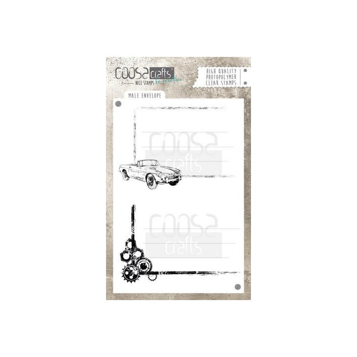 Set of clear stamps - Coosa crafts - Wheels- COC-047