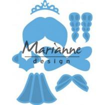 Wykrojniki - Marianne design - Craftables - LR0529 Kim's Buddies princess