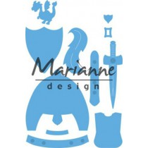 Wykrojniki - Marianne design - Craftables - LR0528  - Rycerz