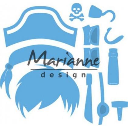 Die cut - Marianne design - Craftables- LR0527 Kim's Buddies pirate
