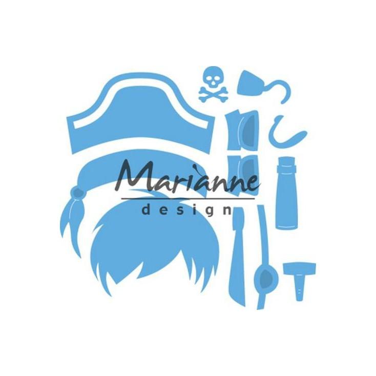 Wykrojniki - Marianne design - Craftables - LR0527 Kim's Buddies pirate