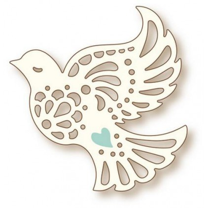 Die cut - Wild Rose Studio - Dove- SD-069