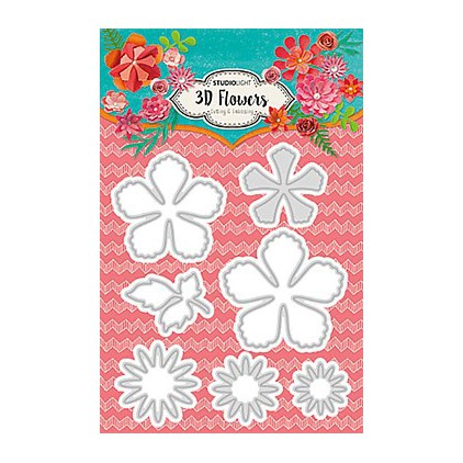 Die cut -Studio Light - 3D Flowers - STENCILSL94