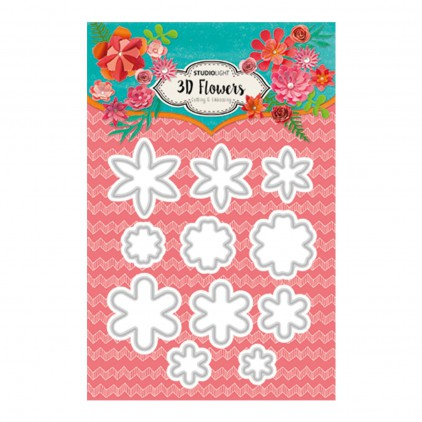 Die cut -Studio Light - 3D Flowers - STENCILSL95