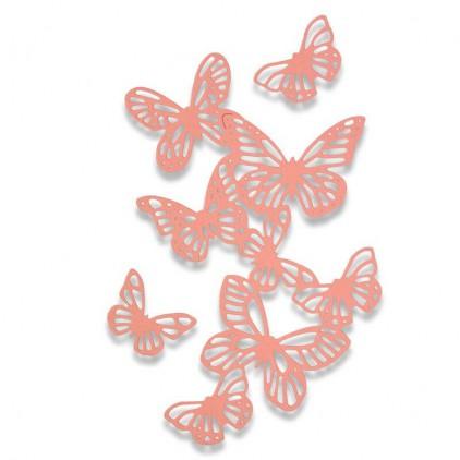 Wykrojniki - Sizzix - Thinlits - 662516 - Butterflies