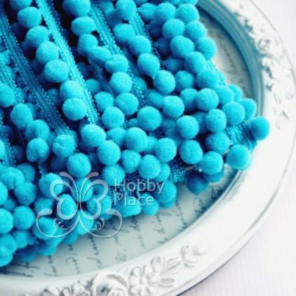 Pom-pom trim - turquoise