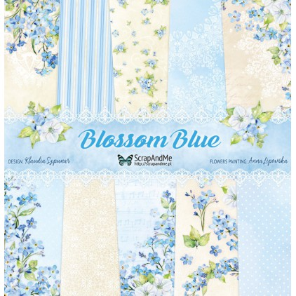 Set of scrapbooking papers - ScrapAndMe - Blossom Blue