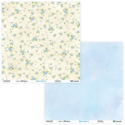 Scrapbooking paper - ScrapAndMe - Blossom Blue - 07/08
