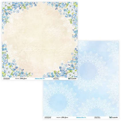 Set of scrapbooking papers - ScrapAndMe - Blossom Blue - 09/10