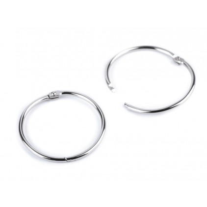 Metal circles for binding albums, notebooks - silver 4.8 cm