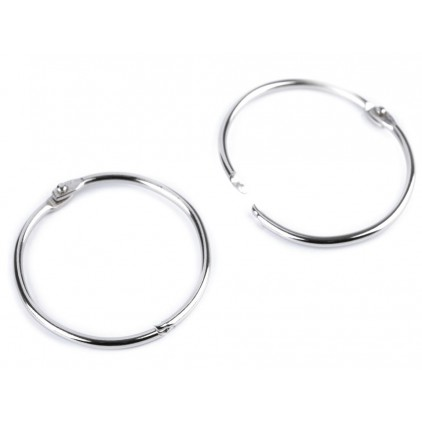 Metal circles for binding albums, notebooks - silver 5,2 cm