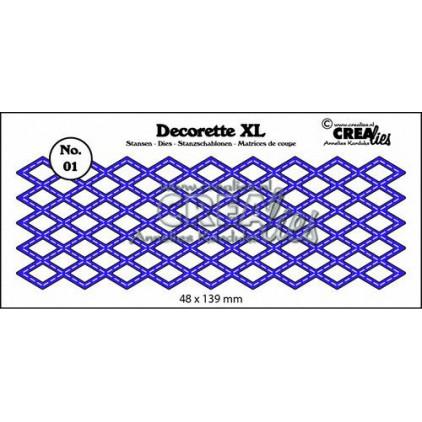Wykrojniki - Crealies- Decorette XL - CLDRXL01 - Diamond with stitch