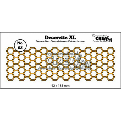 Die cut- Crealies -Crealies Decorette XL - CLDRXL03 - Honeycomb
