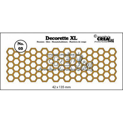 Wykrojniki - Crealies- Decorette XL - CLDRXL03 - Honeycomb
