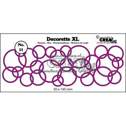 Wykrojniki - Crealies- Decorette XL - CLDRXL11 - Interlocking circles