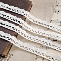 Cotton lace - cream - 1 meter