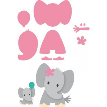Die-cut- Marianne Design CollectablesElephante- COL1384