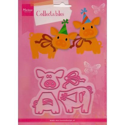Wykrojniki Świnki- Marianne Design Collectables - COL1402