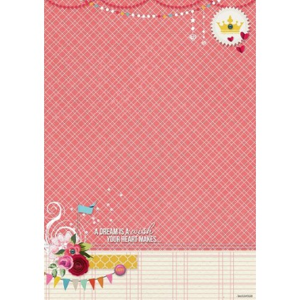 Scrapbooking paper A4 - Studio Light - BASISFD185
